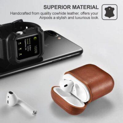 619Z0SASC4L. SL1000   Apple Airpods Protective Case - Brown